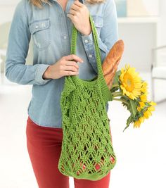 Free Crochet Shopping Bag Pattern 24/7 COTTON TRENTON TOTE