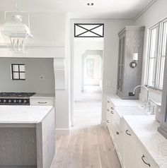 Hammer Kraft kitchen. Love the white lantern.