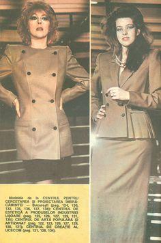Moda Anului 1989 in Romania - 80s Fashion, My Childhood, Romania, Chef Jackets, Fashion Inspiration, Aesthetics