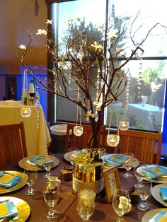 These Manzanita Branches looked amazing with hanging votives, hanging crystals and white Dendronium orchids added.. LOVE LOVE LOVE These!