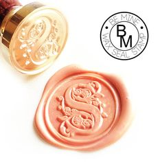 Wax Seal Stamp, wax and seal letter and initial - Western European Font