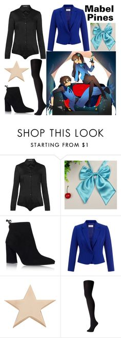 """""""Reverse Mabel Pines Inspired"""" by arithegeek11 ❤ liked on Polyvore featuring Hallhuber, Stuart Weitzman, Hobbs, Givenchy and Falke"""