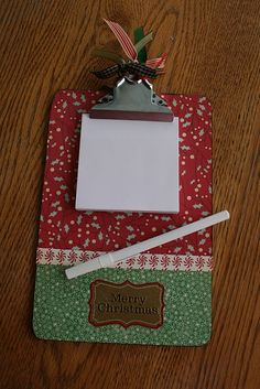 "Mod Podge Clipboards  (Kudzu says ""great idea for kids,too,so it can help hold crafts down for them, like friendship bracelets!)"