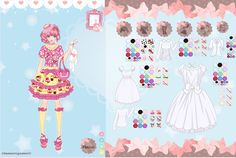 Oh this game turned out to be a BIG deal...Decololi dress up game...I see screenshots from this game all around the net! I think i will do more lolita fashion games.A lot of people love lolita fashion and i love making people happy..cuz i am awesome...