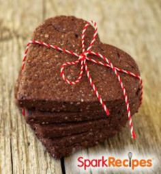 Healthy Chocolate Peanut Butter Hearts: These are like Larabars and use just four natural ingredients. Fun to make with the kids this Valentine's Day (and you can feel good about them eating it)! | via @SparkPeople #food #recipe #snack #dessert #Vday