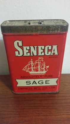 1940s Empress Seneca Brand Sage Tin (Still has Sage) Very rare to find with spice still inside! Empress Mfg Co. Ltd of Vancouver B.C. $20 #Antique #1940s #40s #Empress #Vancouver #BuyItNow #Sage