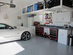 Image result for overhead garage shelves