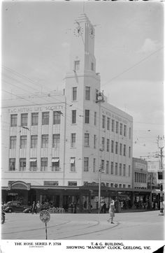 "T&G Building showing ""Manikin"" clock, Geelong Australian Continent, Broken Promises, Ballroom Dancing, Largest Countries, Victoria Australia, Small Island, Tasmania, Vintage Photographs, Continents"