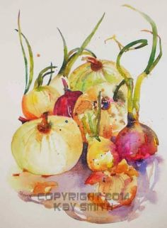 Odorless Onions, painting by artist Kay Smith