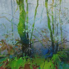 Christmas Rainforest, painting by artist Randall David Tipton