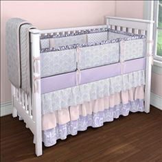 Crib bedding in Solid Pink Minky, Pink and Taupe Damask, Pink Satin Charmeuse, Solid Pink, Solid Latte Minky. Created using the Nursery Designer® by Carousel Designs where you mix and match from hundreds of fabrics to create your own unique baby bedding. Custom Baby Bedding, Baby Girl Crib Bedding, Pink Bedding, Crib Bedding Sets, Luxury Bedding, Girl Nursery, Nursery Ideas, Nursery Room, Sons
