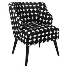 Another great find on Jet Black Polka Dot Modern Chair by Skyline Furniture