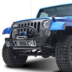 E-Autogrilles 07-15 JEEP Wrangler JK Heavy Duty Rock Crawler Front Bumper (51-0357 ) Heavy duty 5/32 inches steel and 2 3/8 inches x 0.120 inches tubingHigh strength D-Ring mounts welded on the ins…
