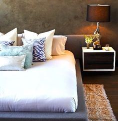 cama de tecido - grey - men - cimento