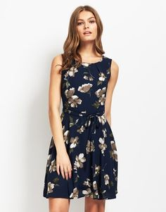 Mela Loves London Floral Tie Waist Dress