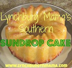 "Only in the South Can You Get a ""Sun Drop Cake Recipe""! The old time Sundrop used to come in a glass bottle and you could see bits of citrus at the bottom. Was made originally here in NC. We also have Sundrop ice cream here in our local stores."