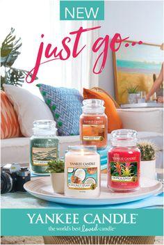 Colecção de Verão Justo Go da Yankee Candle. Fragrâncias frescas,frutadas,quentes e intensas que nos transportam a todos os cantos do mundo!