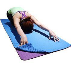 Yoga Mat Towel-Microfiber Hot Yoga Towel-Non Slip Sweat Absorbent Super Soft x Cross Country Running, Yoga Towel, Famous Last Words, Yoga Accessories, Training Equipment, Hot Yoga, Pilates, Beach Mat