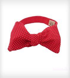 Polka Dot Bow Tie - Red & White
