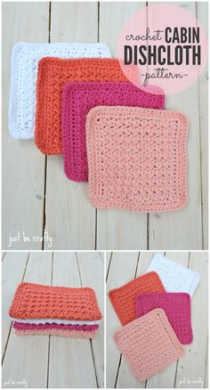 Crochet Cabin Dishcloth Pattern Crochet Dishcloth PatternTo Beautify Your Kitchen