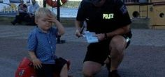 Three year old can't contain grief after getting a parking ticket.