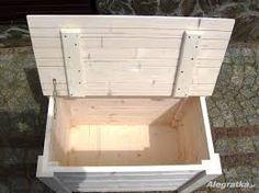 Znalezione obrazy dla zapytania drewniana skrzynia do siedzenia