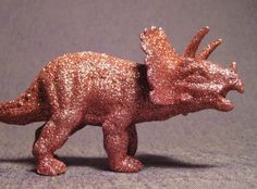 Orange glitter Triceratops!
