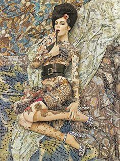 """vogue patterns"" by Steven Meisel"