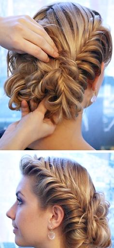 Elaborate wedding hair