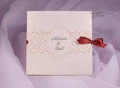 INVITATII HANDMADE by Mariana: Invitatie crem