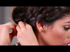 2014 Red Carpet Hairstyles: Braided Crown with Sccastaneda - YouTube
