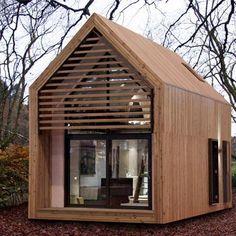 Design werkplek, zo'n kantoor in de tuin maakt werken leuk! .