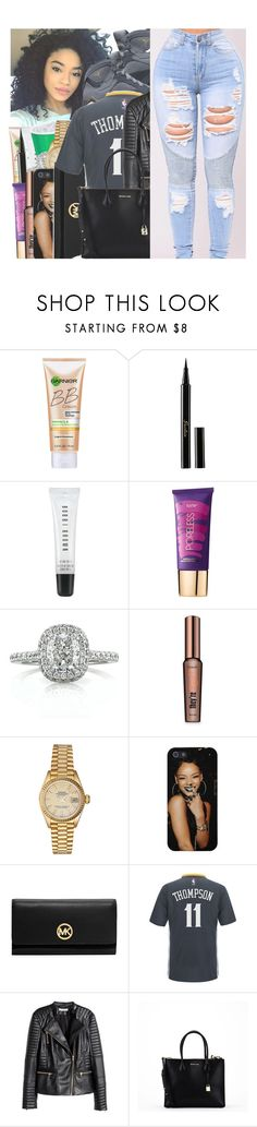 """""""GOLDEN STATE WARRIORS : KLAY THOMPSON"""" by w-on-der-lan-d ❤ liked on Polyvore featuring Miracle Skin Transformer, Guerlain, Bobbi Brown Cosmetics, tarte, Mark Broumand, Benefit, Rolex, MICHAEL Michael Kors, adidas and H&M"""