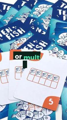 1st Grade Math Games, Easy Math Games, Math Card Games, Math Games For Kids, Kindergarten Math Activities, Kids Math, Educational Activities For Kids, Homeschool Math, Fun Math