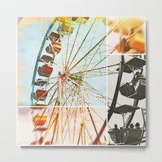 Ferris Wheel Metal Print #amusementpart #ferriswheel