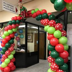 Party Blitz specializes in unique event decor & balloon decor in Simi Valley, CA. Christmas Arch, Christmas Balloons, Christmas Backdrops, Christmas Events, Christmas Design, Christmas Holidays, Reunion Decorations, Christmas Party Decorations, Balloon Decorations