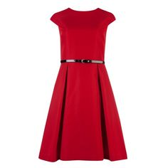 Ted Baker LADI - Full skirt belted dress ($310) ❤ liked on Polyvore