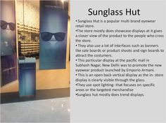 Sunglass Hut display at the pacific mall