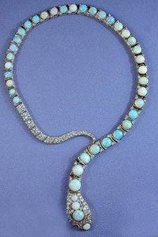 S.J. Phillips Diamond & Opal necklace