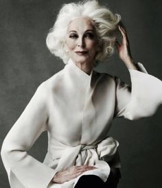 """One of the keys to my style has come from dressing the body I have. You have to accept and understand the scale of your body."" - Carmen Dell'Orefice, 84 year old supermodel. (Via Eileen Fisher)"