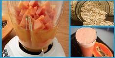 Oatmeal and Papaya Smoothie Deflates your belly and makes you lose weight Fitness Workouts, Ab Workouts, Protein Diets, Kefir, Healthy Life, Smoothies, Good Food, Food And Drink, Health Fitness