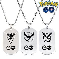 Pokemon Go Team Valor Mystic Instinct Necklace Tag //Price: $ 8.95 & FREE shipping //