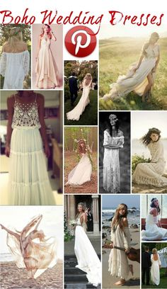 Boho Pins: Boho Wedding Dresses