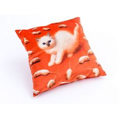 Seletti Cushions At Cheap Price With Lipstick Volcano Kitten Teeth and Snakes flowers Armchair in Velvet Material by Seletti Wears Toiletpaper at Smithers of Stamford Dealer Store Uk Seller of Art Velvet Furniture, Furniture Care, Kitten Images, Pillows Online, Retro Images, Velvet Material, Velvet Cushions, Cushion Pads, Decorative Pillows