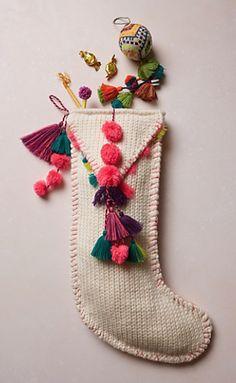 cute pom tassel stocking #anthrofave  http://rstyle.me/n/srpfnpdpe