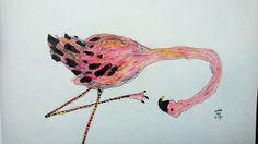 #illustration #bird #pink #usupera