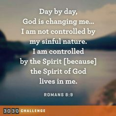 I am controlled by the Spirit...