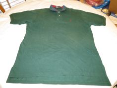 Polo By Ralph Lauren Polo XL short sleeve green cotton Polo Shirt EUC@ #PolobyRalphLauren #PoloRugby