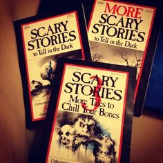 freaking loved these books! Scary Stories to Tell in the Dark!