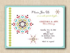 Festive Snowflake Holiday Christmas Party by GigiMarieStationery, $48.00